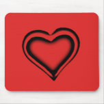 Corazón rojo tapetes de ratón