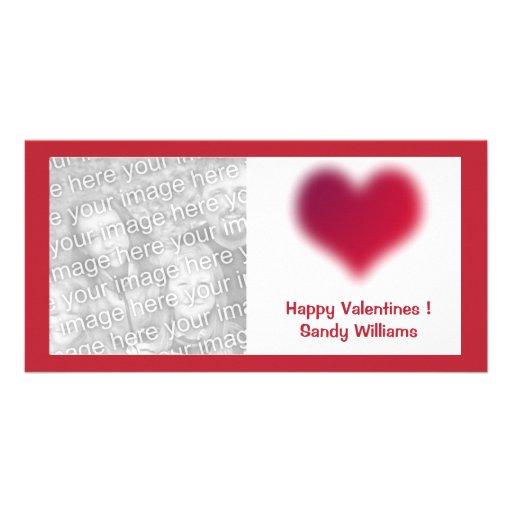 corazón rojo tarjeta fotografica personalizada