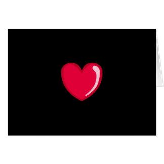 Corazón rojo tarjeta pequeña