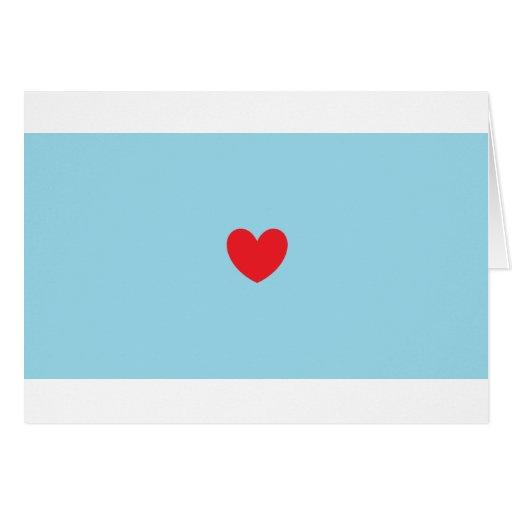 Corazón rojo tarjetas