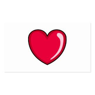 Corazón rojo tarjetas de visita