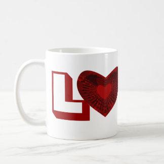 corazón rojo taza