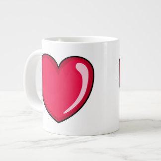 Corazón rojo taza grande