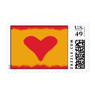 Corazón rojo Toasty Sello Postal