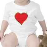 corazón rojo traje de bebé