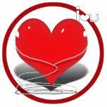 """corazón rojo w/Text del iHeart """"yo ♥ U """" Escultura Fotografica"""