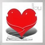 """corazón rojo w/Text del iHeart """"yo ♥ U """" Impresiones"""