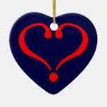 Corazón rojo y amor abierto en día de San Valentín Adorno De Navidad