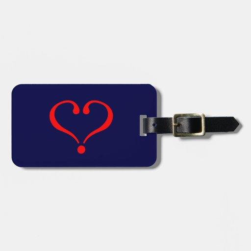 Corazón rojo y amor abierto en día de San Valentín Etiqueta Para Maleta