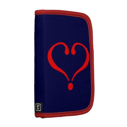 Corazón rojo y amor abierto en día de San Valentín Planificadores