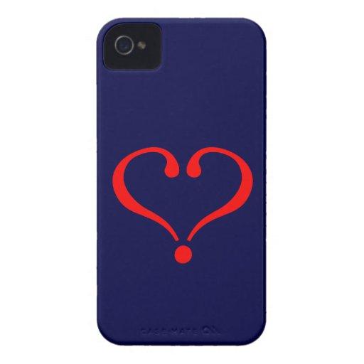 Corazón rojo y amor abierto en día de San Valentín iPhone 4 Case-Mate Fundas