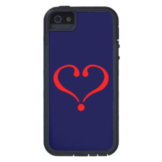 Corazón rojo y amor abierto en día de San Valentín iPhone 5 Coberturas
