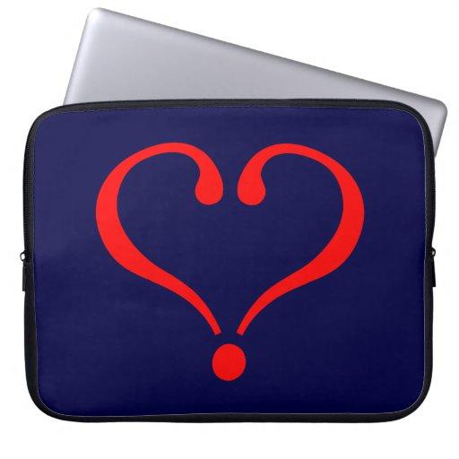 Corazón rojo y amor abierto en día de San Valentín Manga Computadora
