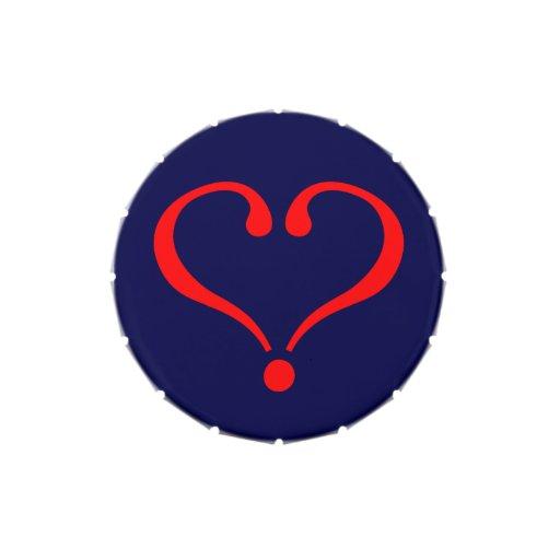 Corazón rojo y amor abierto en día de San Valentín Latas De Caramelos