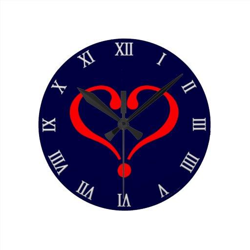 Corazón rojo y amor abierto en día de San Valentín Relojes