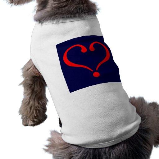 Corazón rojo y amor abierto en día de San Valentín Ropa Macota