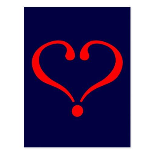 Corazón rojo y amor abierto en día de San Valentín Postal