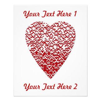 Corazón rojo y blanco. Diseño modelado del corazón Tarjeton