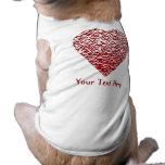Corazón rojo y blanco. Diseño modelado del corazón Camisetas De Mascota