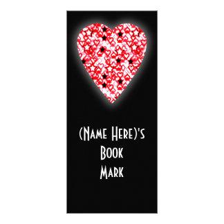 Corazón rojo y blanco. Diseño modelado del corazón Tarjetas Publicitarias Personalizadas