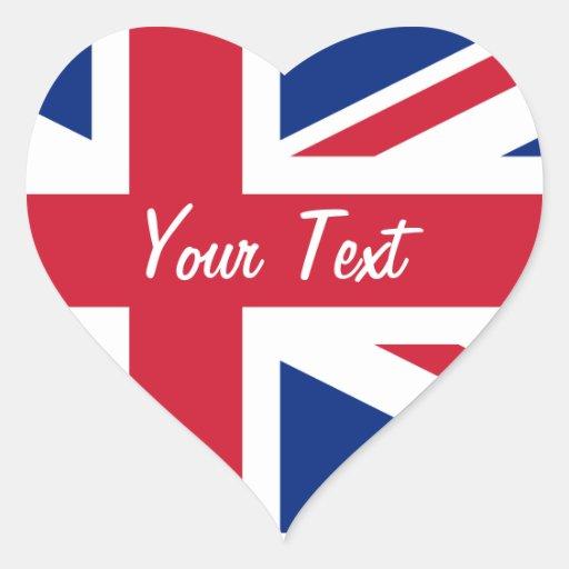 Corazón romántico de la etiqueta conocida de Union