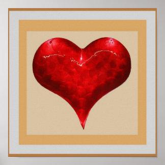 CORAZÓN romántico del VINTAGE: La joya tiene gusto Poster