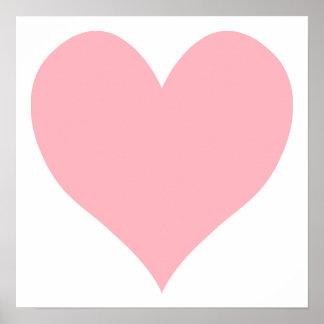 Corazón rosa claro póster