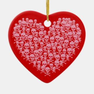 Corazón rosado adaptable de Skully Adorno Para Reyes