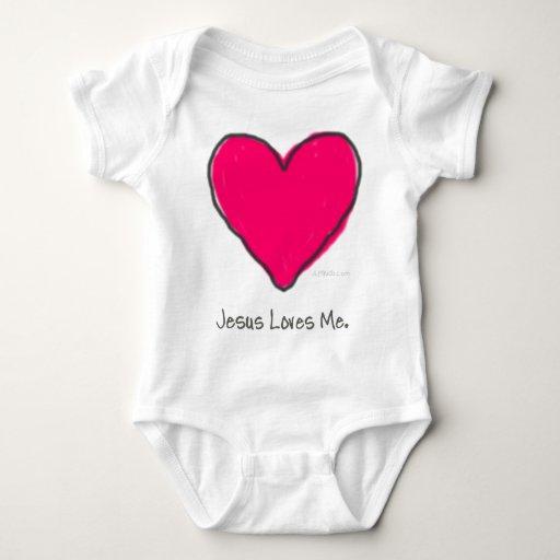 Corazón rosado body para bebé