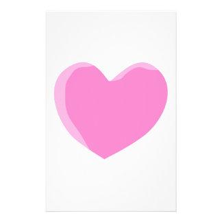 Corazón rosado bonito del amor flyer personalizado