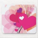 Corazón rosado Boquet Alfombrillas De Ratones