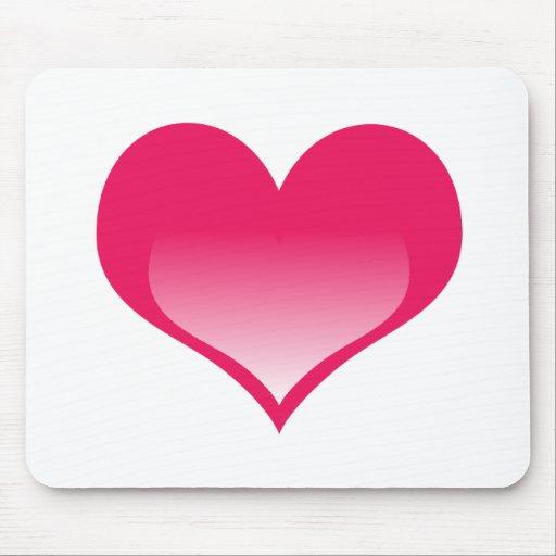 Corazón rosado brillante tapete de ratones