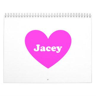 Corazón rosado calendarios de pared