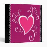 Corazón rosado - carpeta