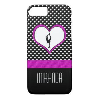 Corazón rosado con con clase patinaje artístico funda iPhone 7