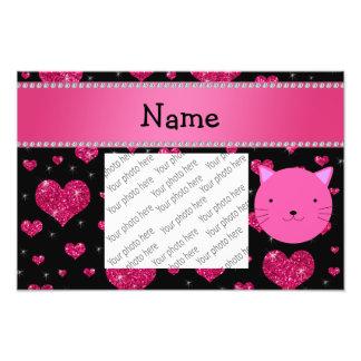 Corazón rosado conocido personalizado del brillo d foto
