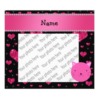 Corazón rosado conocido personalizado del brillo d arte fotográfico