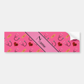 Corazón rosado conocido personalizado del vendaje pegatina para coche