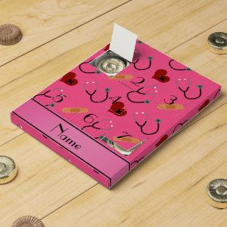 Corazón rosado conocido personalizado del vendaje