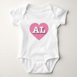 Corazón rosado de Alabama - amor grande Remera