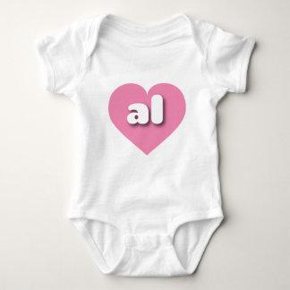 Corazón rosado de Alabama - mini amor Remera