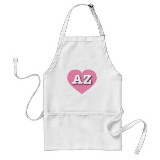 Corazón rosado de Arizona - amor grande Delantal