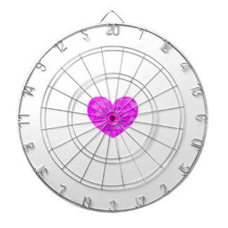 Corazón rosado de Camo Tabla Dardos