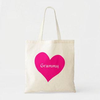 Corazón rosado de Grammy Bolsas De Mano