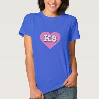 Corazón rosado de Kansas - amor grande Camisas