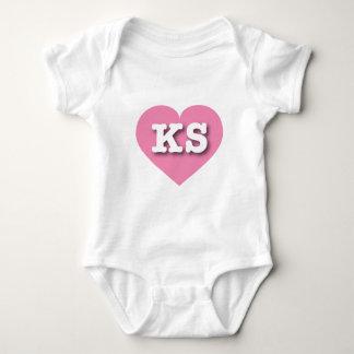 Corazón rosado de Kansas - amor grande Remeras