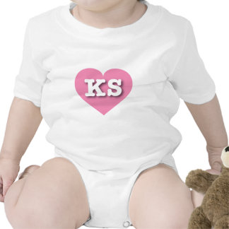 Corazón rosado de Kansas KS Traje De Bebé