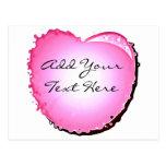Corazón rosado de la burbuja de la chispa postales
