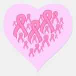 Corazón rosado de la cinta pegatina en forma de corazón