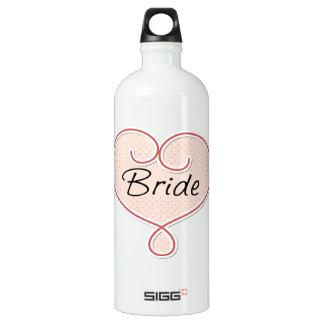 Corazón rosado de la novia